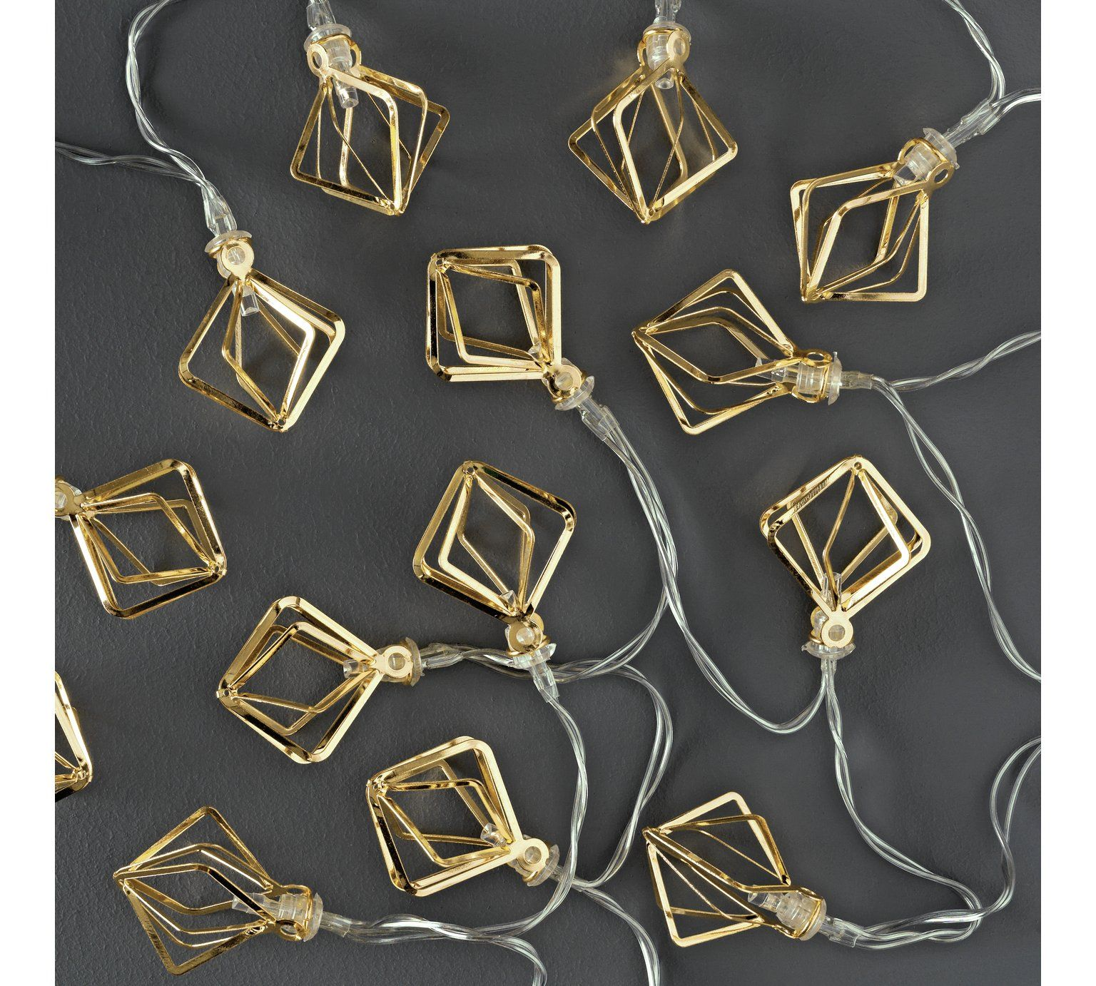Buy Collection Set of 20 Diamond Cage LED String Lights