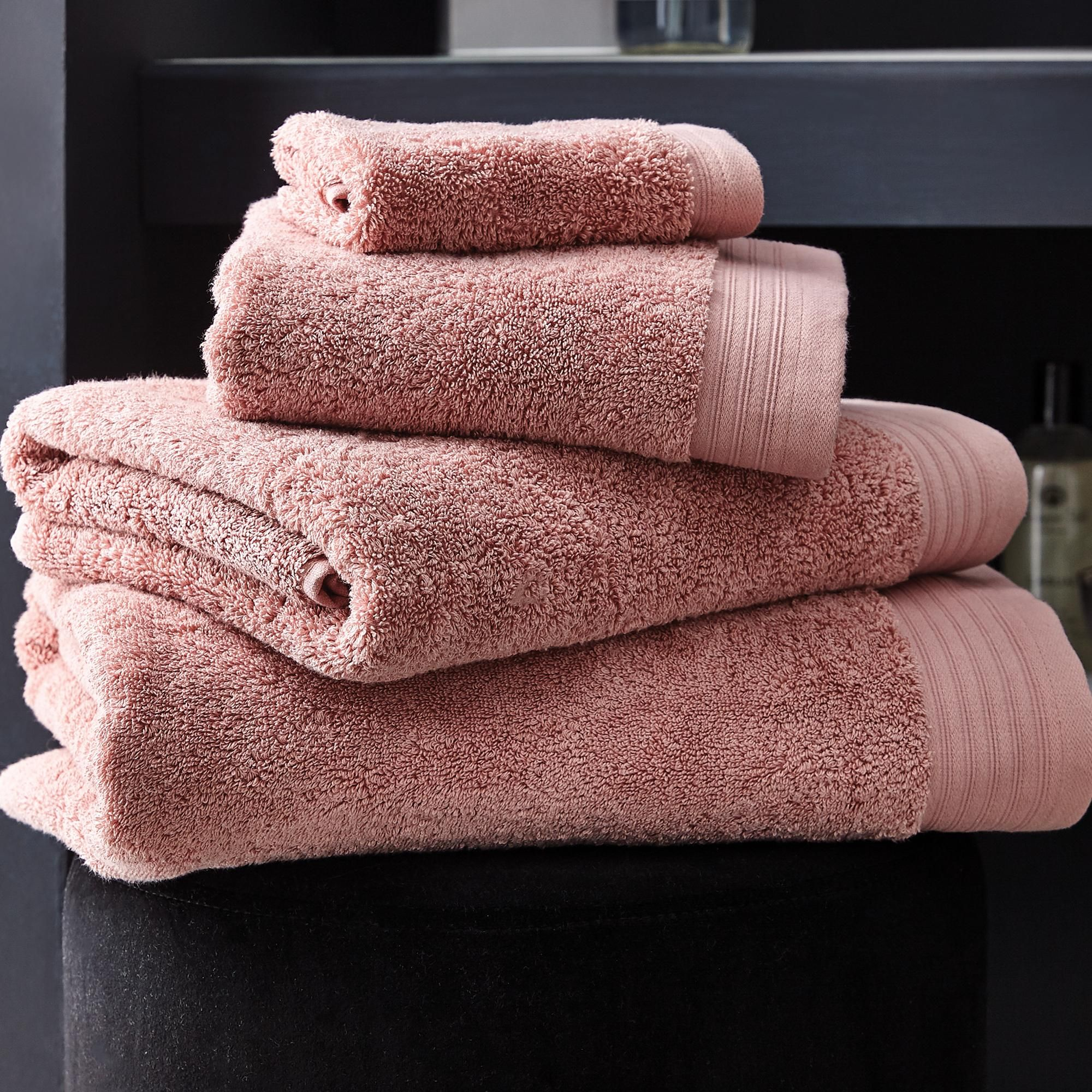 Hotel Pima Cotton Dusky Pink Towel In 2020 Pink Towels Towel