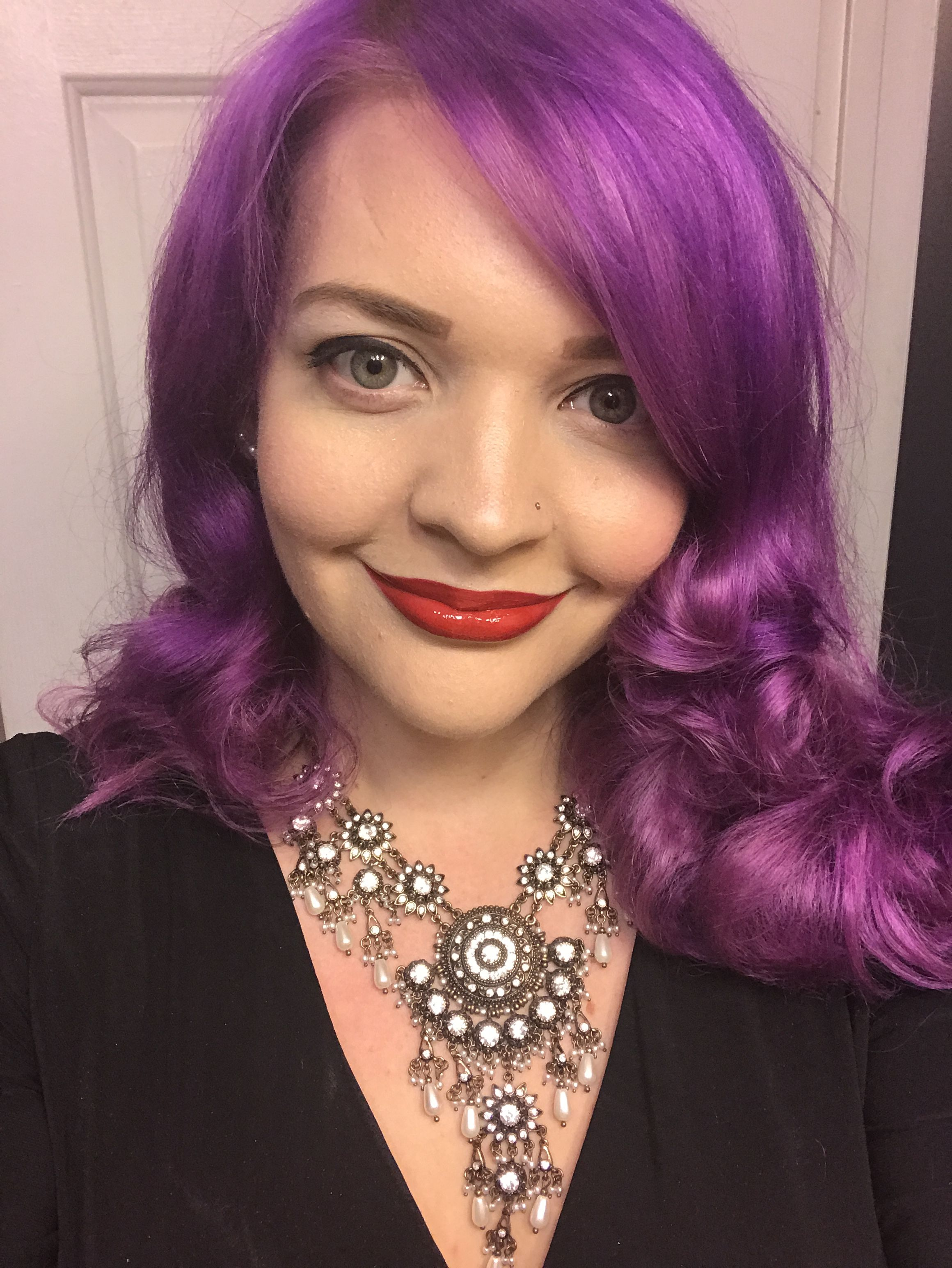 My Purple Hair Ion Semi Permanent Color Is Radiant Orchid