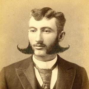Mens facial hair style in 1897 canada