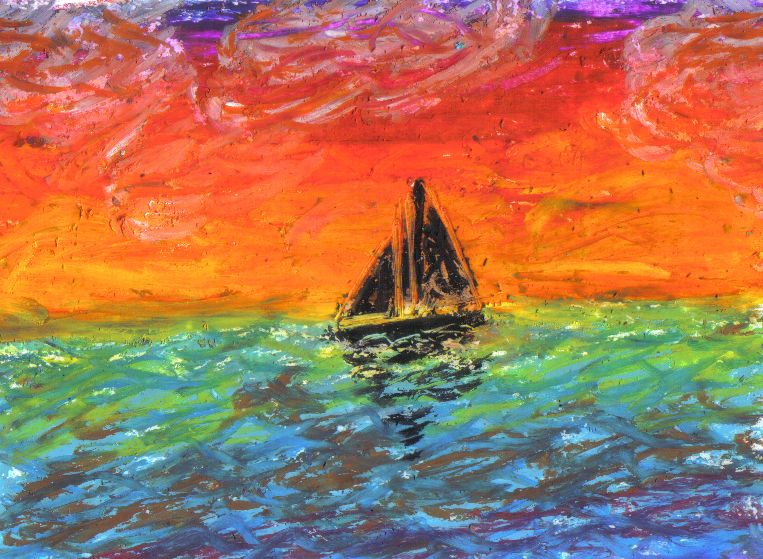 Sunse - Oil Pastel by yorksherpud.deviantart.com on @DeviantArt ...