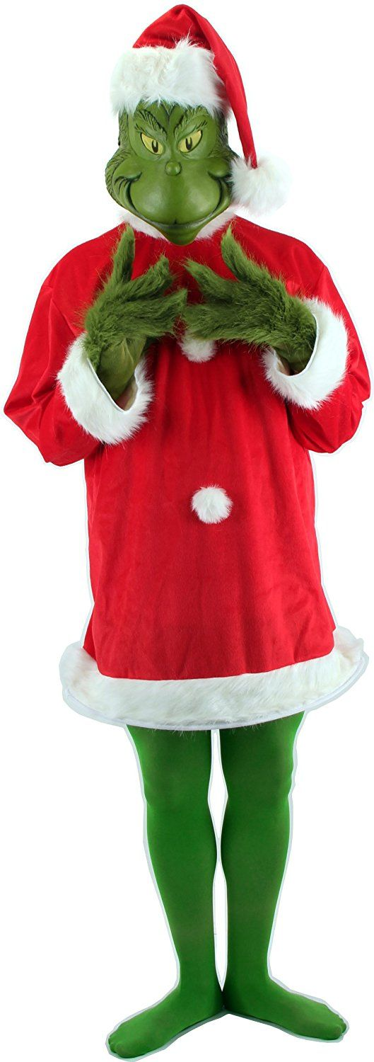 Amazon Elope Dr Seuss Santa Grinch Costume Deluxe With Mask