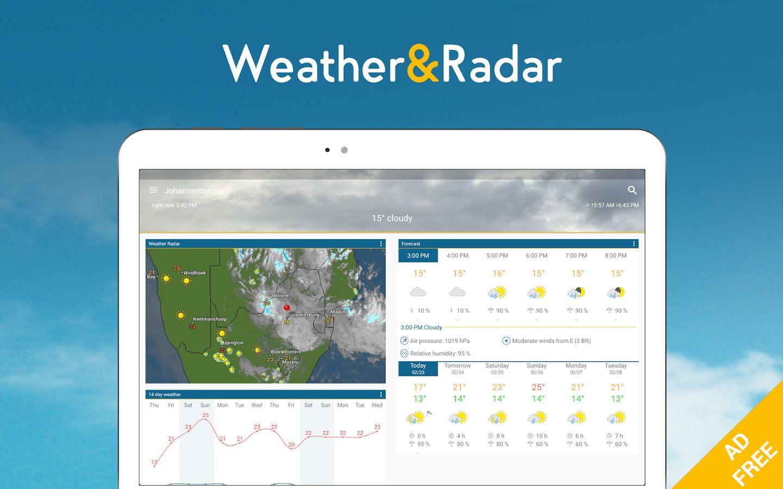 Download WEATHER & RADAR PRO ADFREE V4.19.1 [UNLOCKED