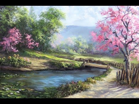 Spring Day | Painting art Demo - YouTube #autumnseason
