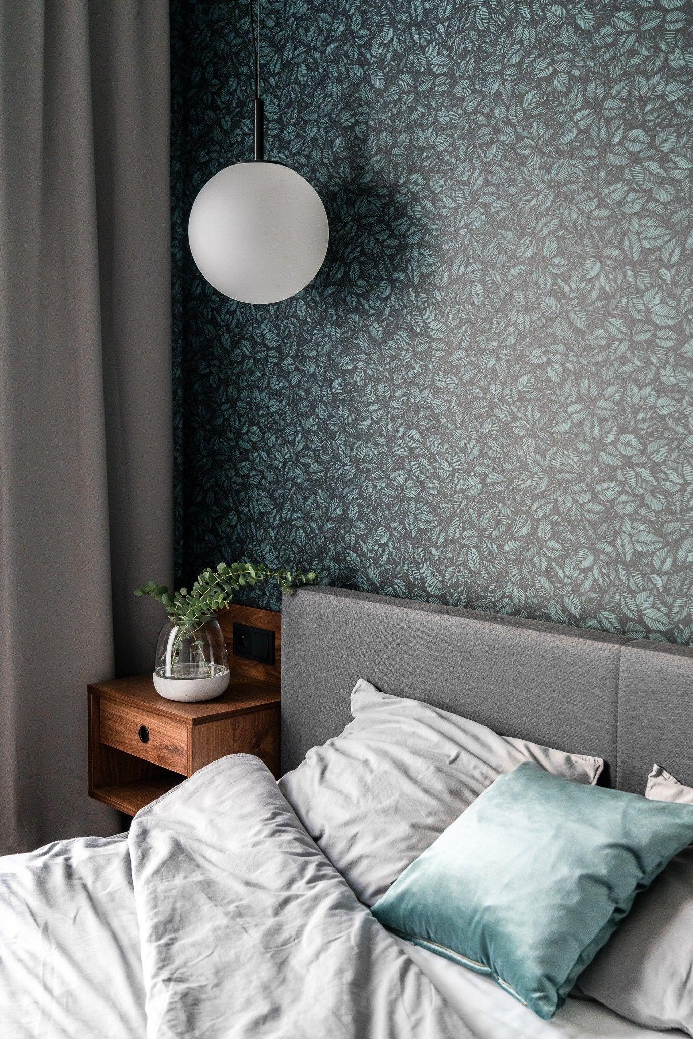 Leaves Wallpaper In Bedroom Bedroom Interior Small Room Design
