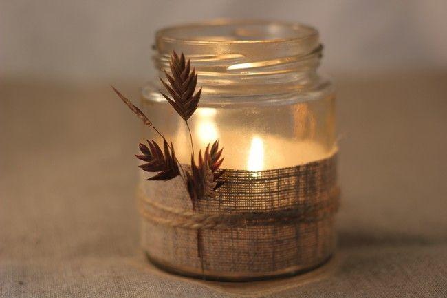 diy 3 id es malicieuses pour r utiliser des pots en verre pots en verre bougies et pots. Black Bedroom Furniture Sets. Home Design Ideas