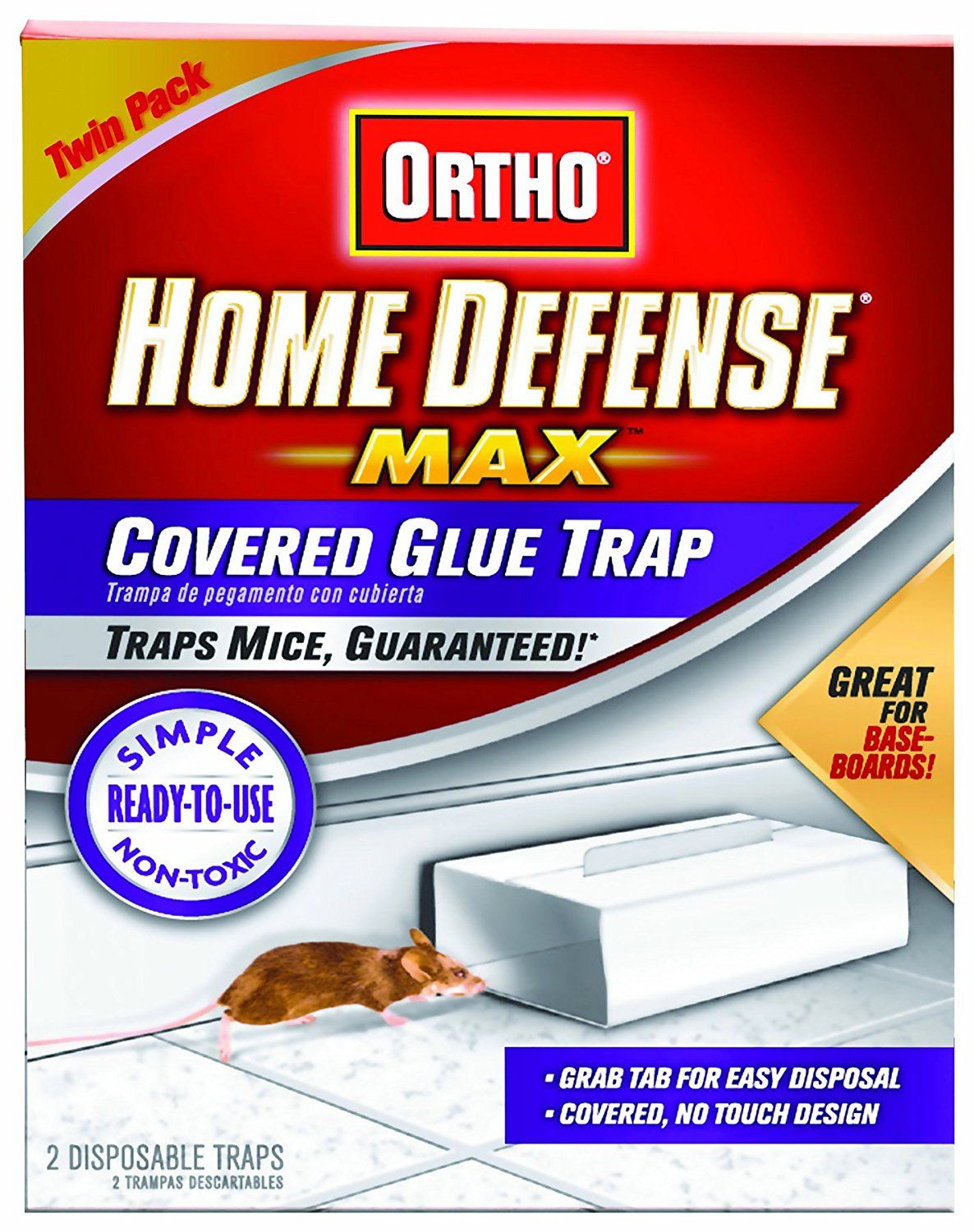 Ortho 0320410 Home Defense MAX Covered Glue Traps Readyto