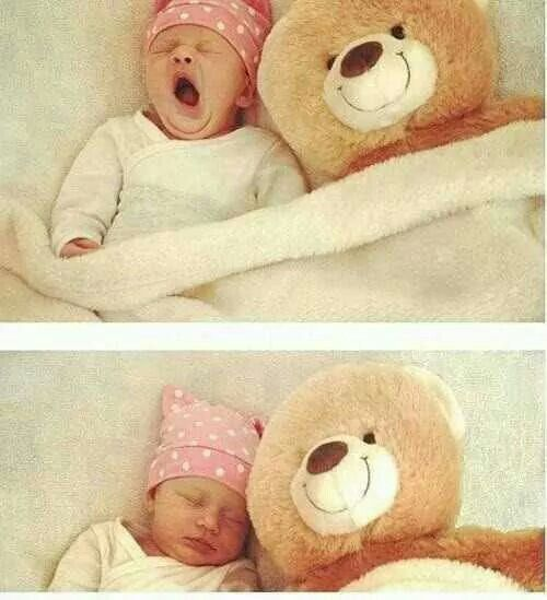 Baby and bear