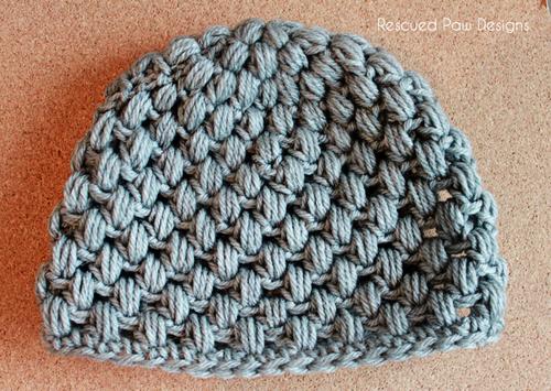 Puff Stitch Crochet Hat Pattern Free Crochet Pattern | Pinterest ...
