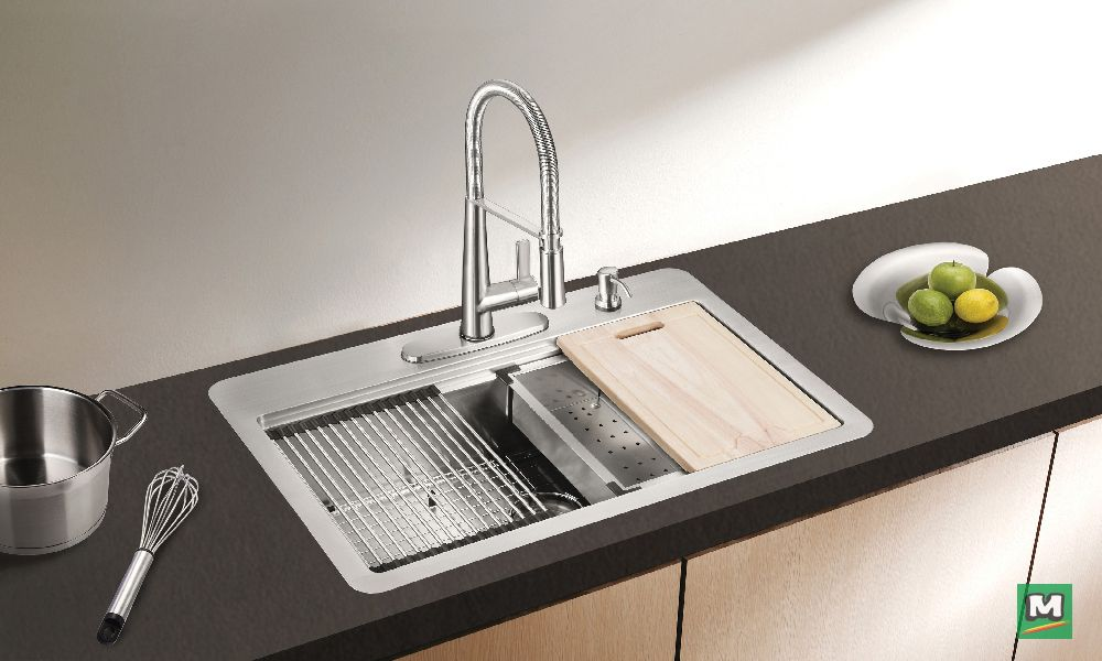 The Acadian Workstation Kitchen Sink Kit From Tuscany Combines