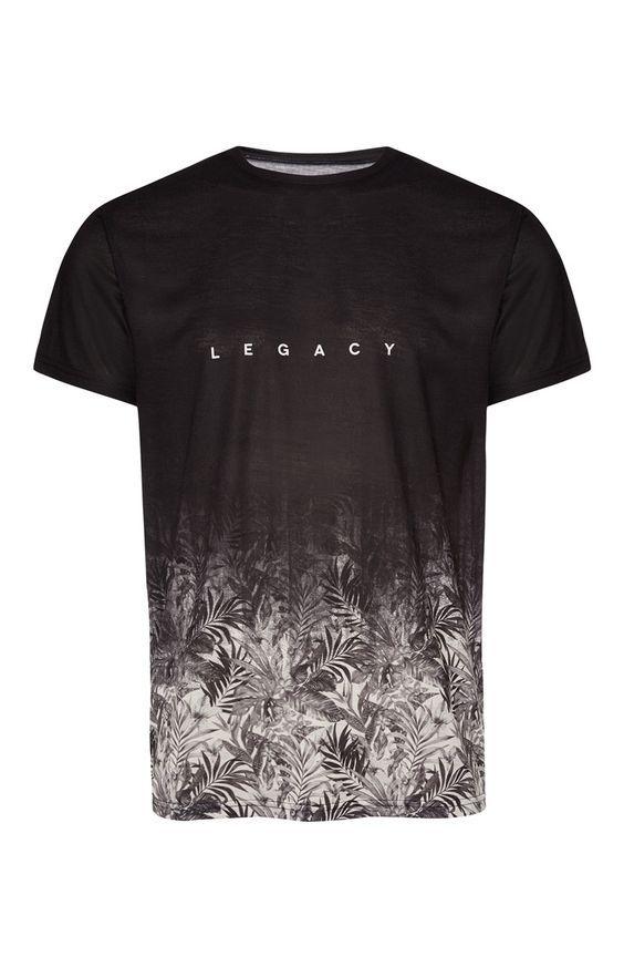 54a153f3b476 Black Legacy Print T-Shirt