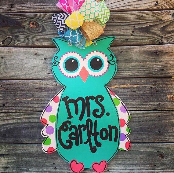 Owl Classroom Decoration Ideas : Owl door hanger decor teacher classroom
