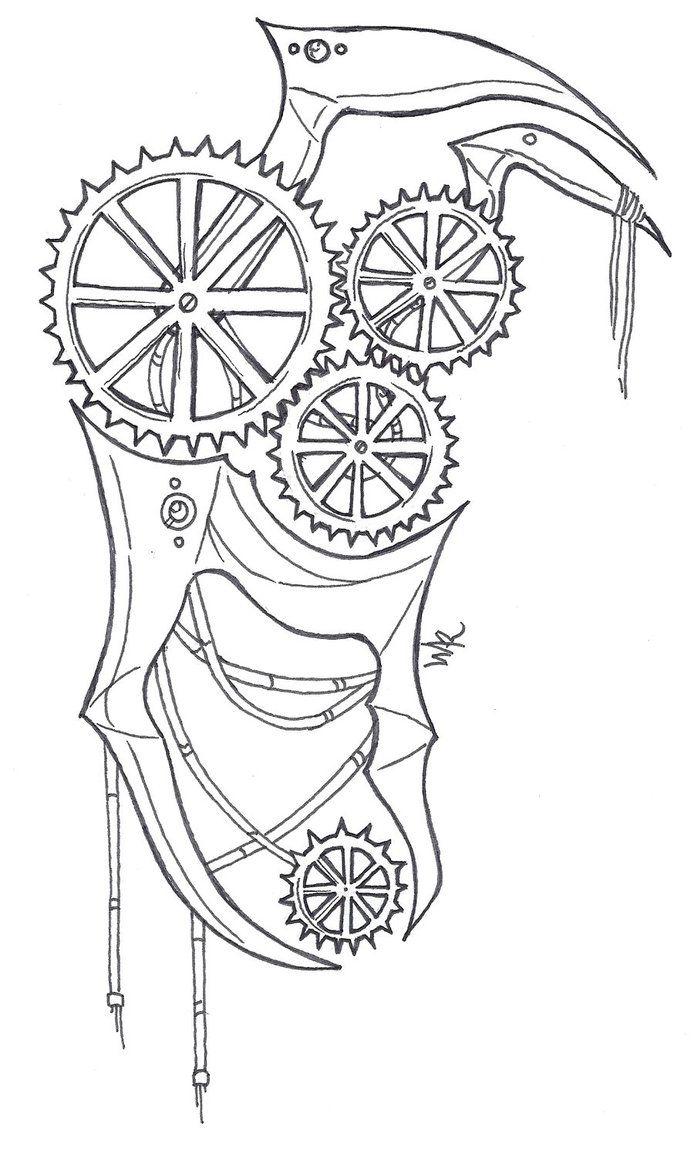 Steampunk Tattoo Designs Line Wiring Diagrams Circuits Gt Real Time Clock Ic L34847 Nextgr Design By Xtasisanu Landmarks Pinterest Rh Com Clockwork Drawings