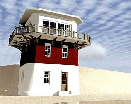 Plan 44092TD: Lighthouse Vacation Home Plan | Beach house plans ...
