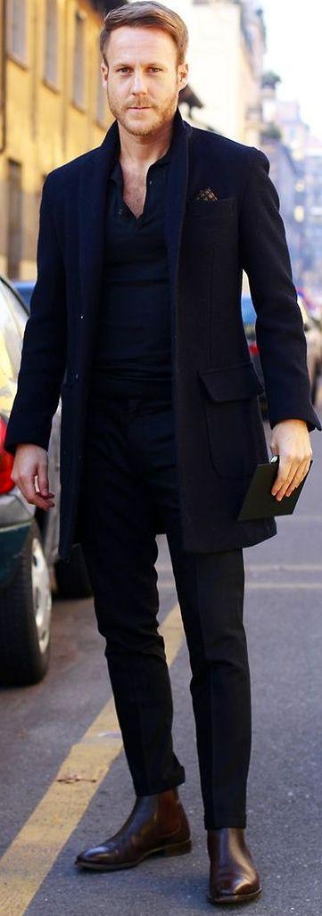 17 Chic Ways To Wear Overcoat Black Overcoat Black Dress Pants And Dress Pants