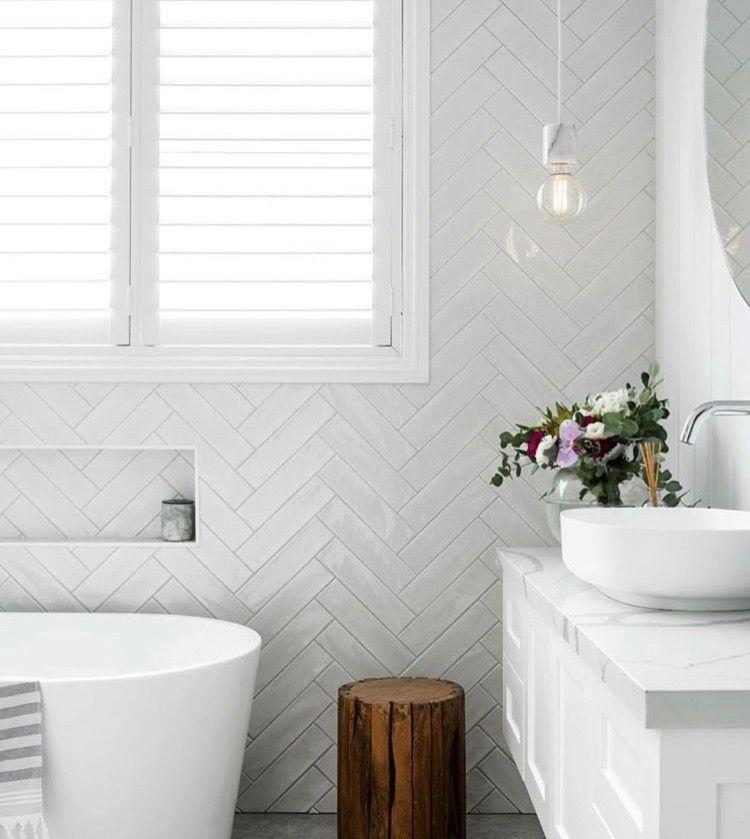 Pinterest Ambsmerelda Bathroom Interior Herringbone Tile