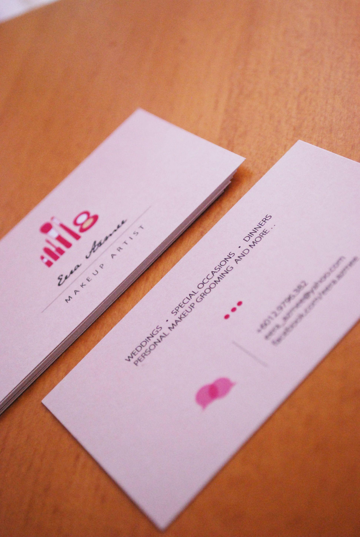 Makeup artist business card design. | Design | Pinterest | Makeup ...
