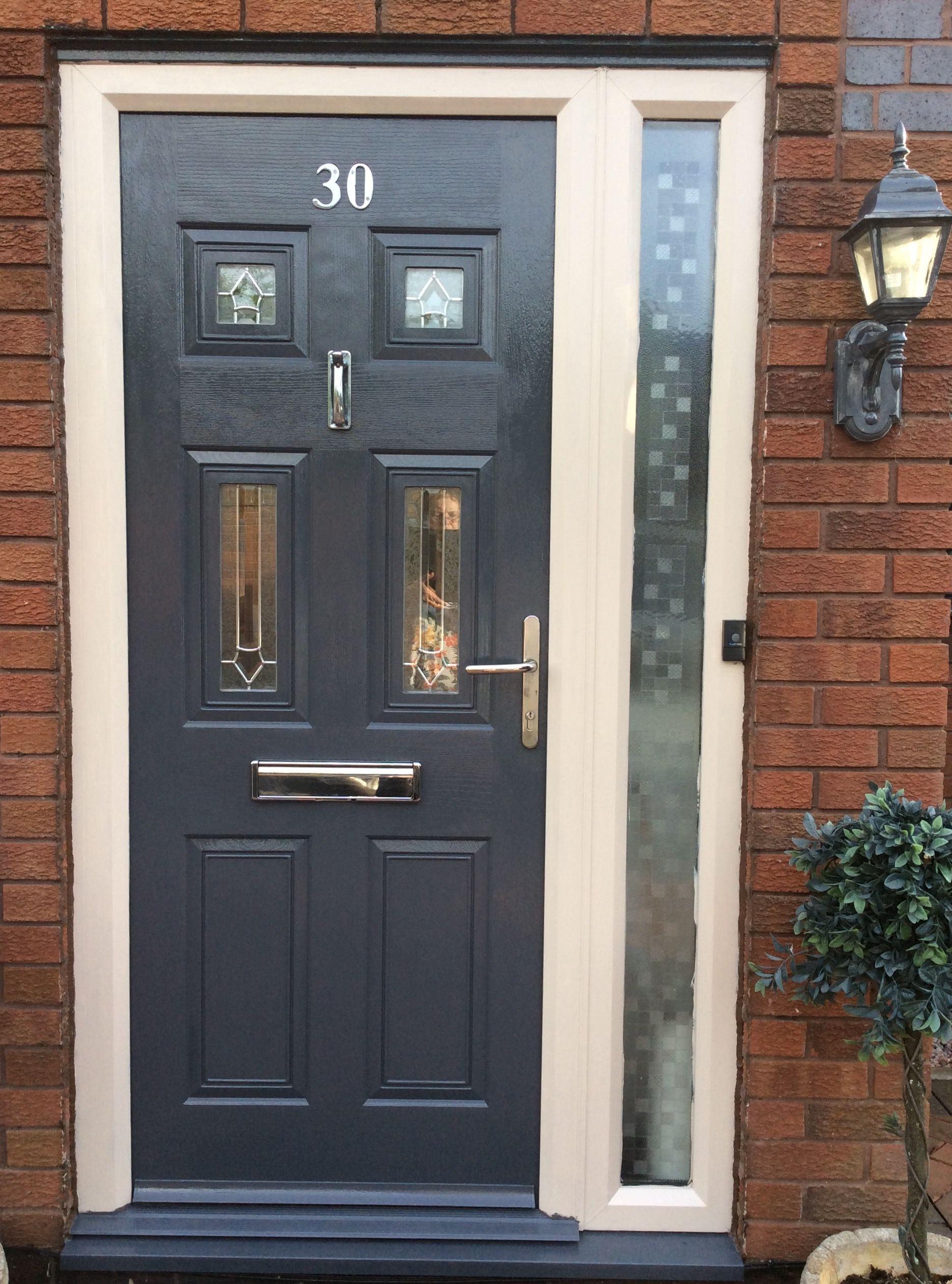 Upvc Door Painted Dark Gray