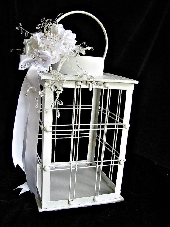 Large Wedding Card Holder Box Lantern Container For Cards And Wishes Unique Wish To Match Brooch Bouquets On Etsy 84 00