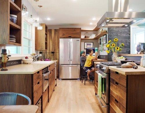Walnut Kitchen Remodel Contemporary Kitchen Contemporary Kitchen Furniture Contemporary Kitchen Kitchen Design