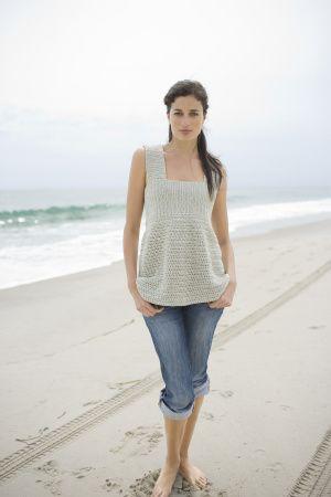 Sea Breeze Top free pattern || Lion Brand Yarn