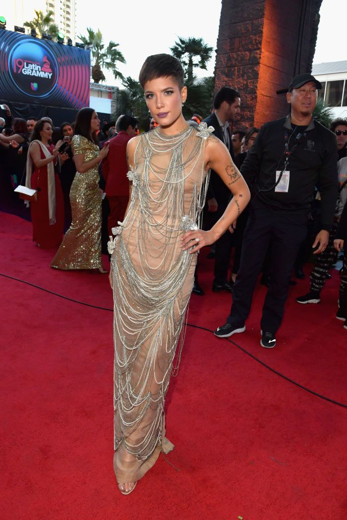 Halsey Attends The 19th Annual Latin Grammy Awards At Mgm Grand Halsey Latin Grammy Award Halsey Style