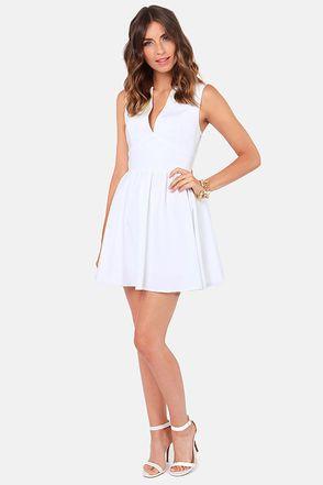 55bccfddb874 Cute White Dress - Skater Dress - Sleeveless Dress -  47.00. Smiles Per Hour  ...