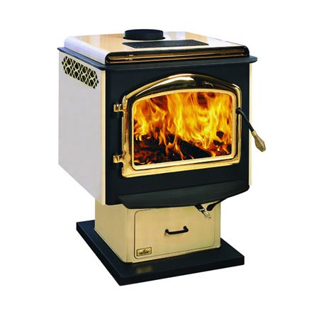 Napoleon 1900 Deluxe Epa Wood Stove With Pedestal Almond Wood Stove Wood Burning Stove Freestanding Fireplace