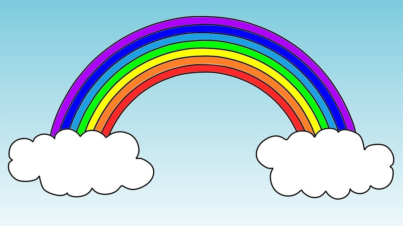 How To Draw A Rainbow Coloring Pages