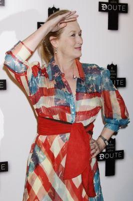 Meryl Streep Flag Dress Jpg 266 400 Catherine Malandrino Dress Meryl Streep Flag Dress