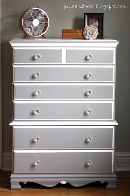 Diy Painted Wood Dresser With Sherwin Williams Grey