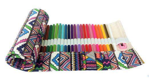 Amazon.com: Adult Kids Coloring Art Set 48 Colored Pencils with ...