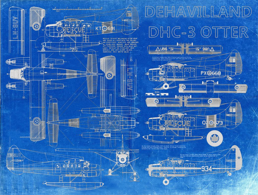 De havilland dhc 3 otter plane blueprint art of bigbluecanoe de havilland dhc 3 otter plane blueprint art of bigbluecanoe malvernweather Choice Image