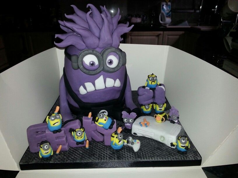 Purple Minion 21st Birthday Cake You Can Only Turn 21 Once