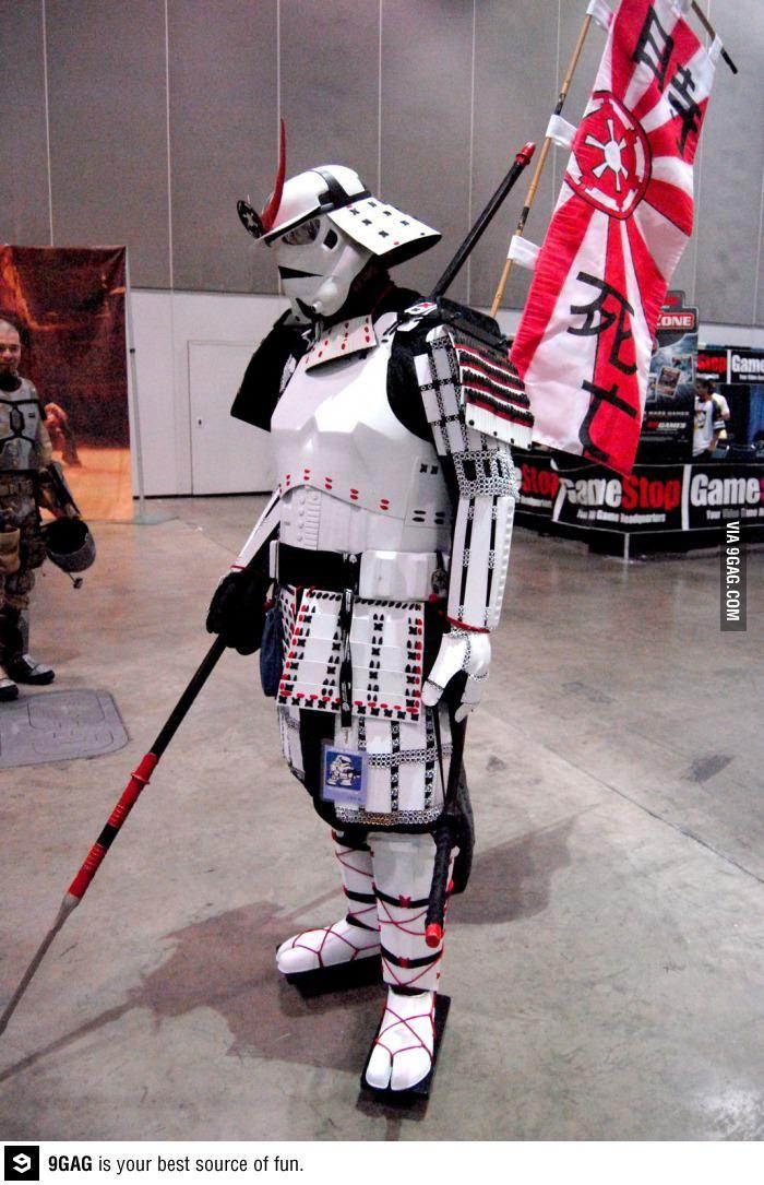 Amazing samurai stormtrooper - star wars, win, cosplay, samurai, storm trooper, funny, lol