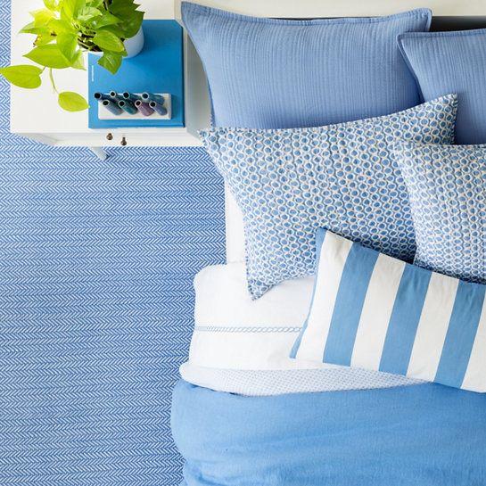 C3 Herringbone French Blue Indoor Outdoor Rug Dash Albert Pine Cone Hillpine