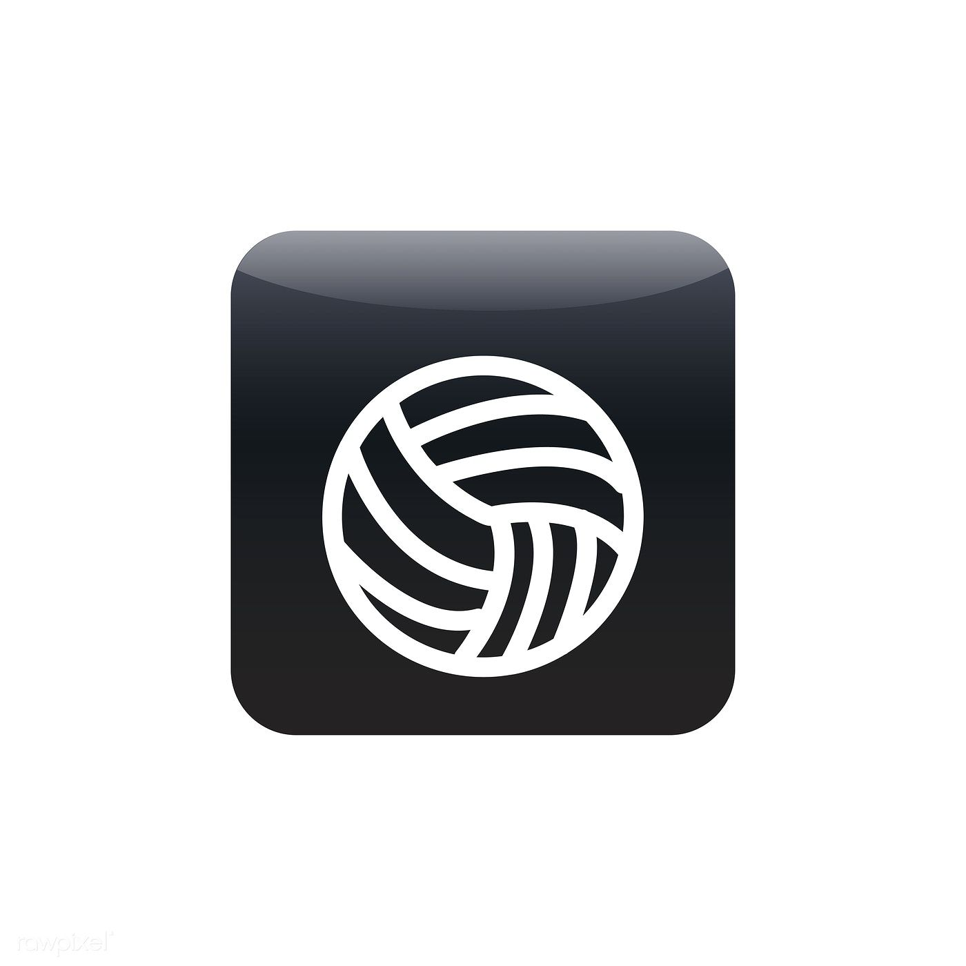 Volleyball Icon Vector Free Image By Rawpixel Com