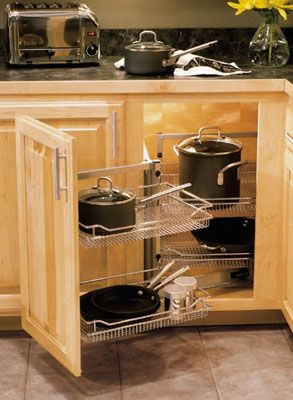Beautiful Blind Corner Cabinet Caddy. Finally A Solution To The Stupid Corner That I  Can Never Get Anything Out Of. | Home Remodeling | Pinterest | Cabinet  Storage, ...