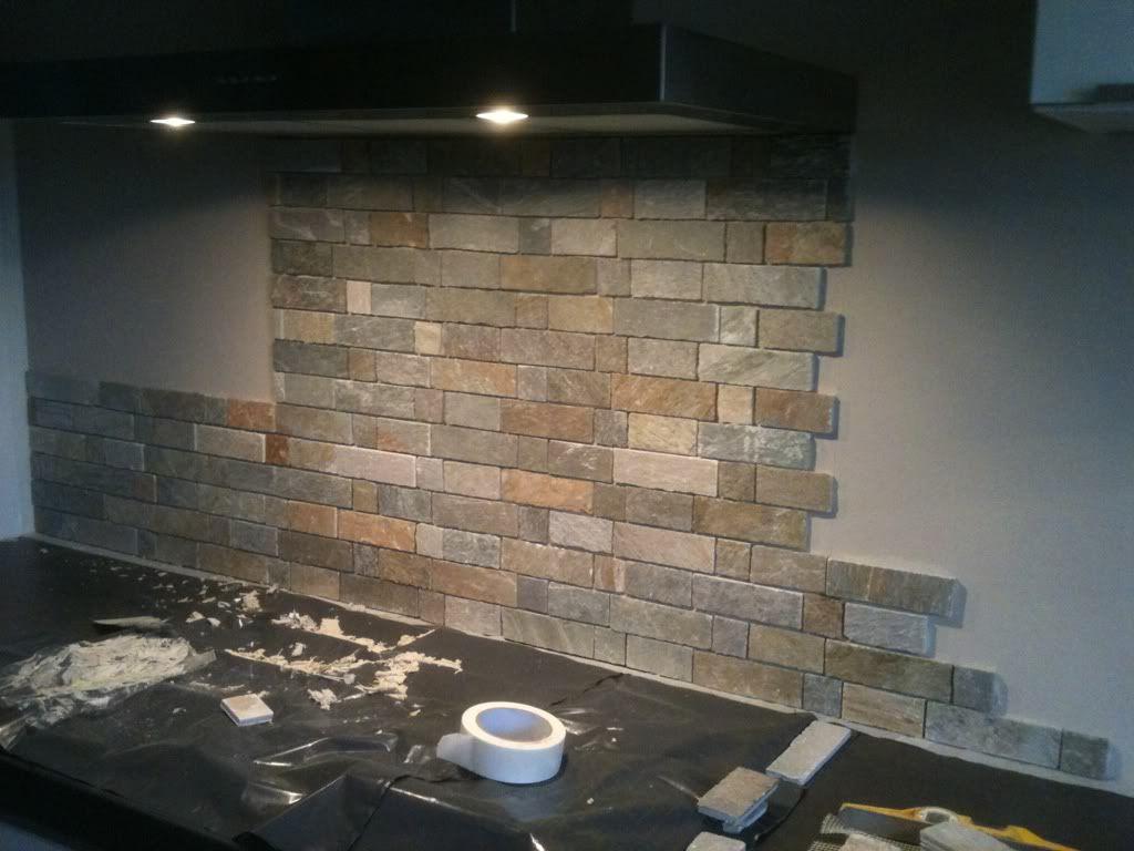 Achterwand Keuken Steenstrips : Afbeeldingsresultaat voor steenstrips achterwand keuken keukenwand