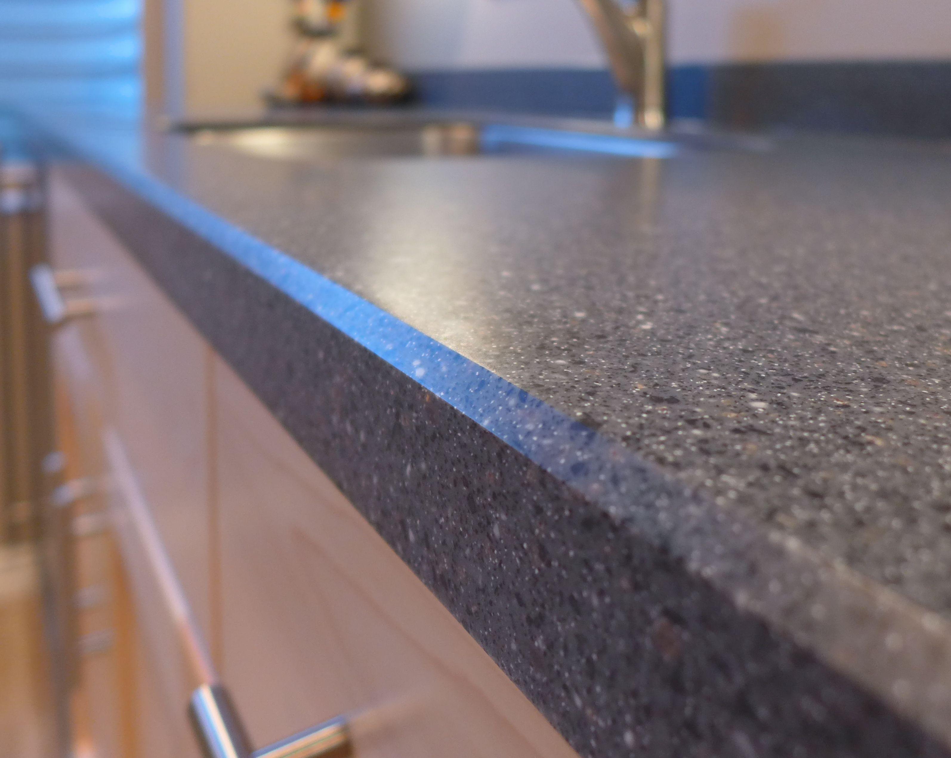Lg hi macs countertops - Lg Hi Macs Graphite Granite Kitchenette Countertop Accent Ineriors Slc Ut