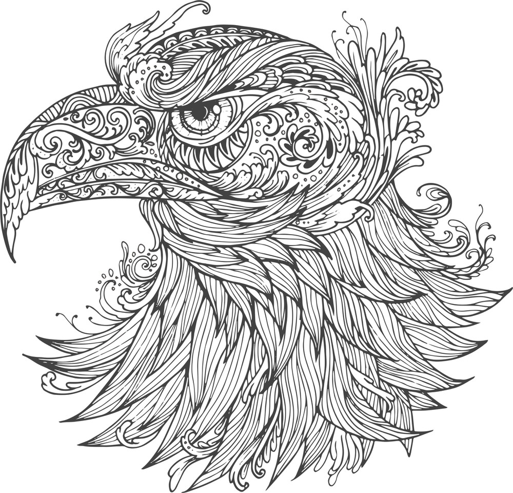 Ornamental Eagle Vector Free Vector cdr Download 3axis