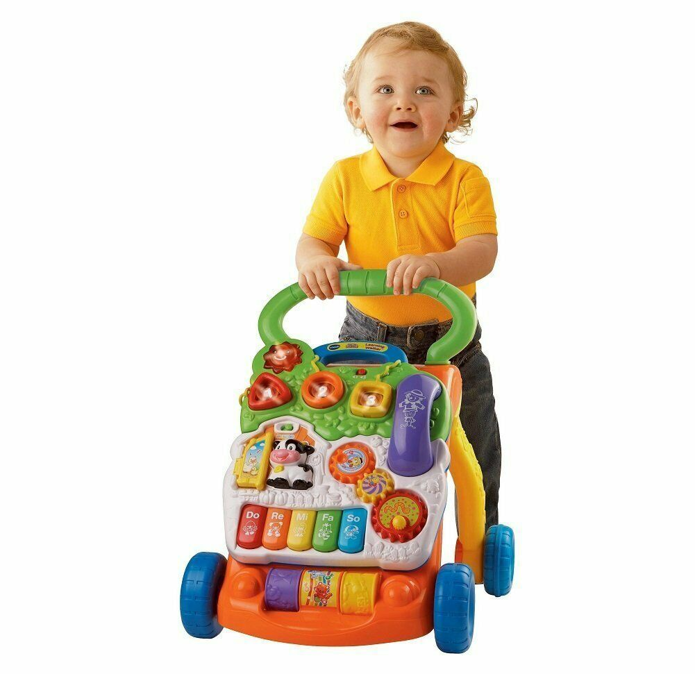 Vtech Sit To Stand Learning Walker Frustration Free Packaging Ebay Baby Toddler Toys Best Educational Toys Vtech