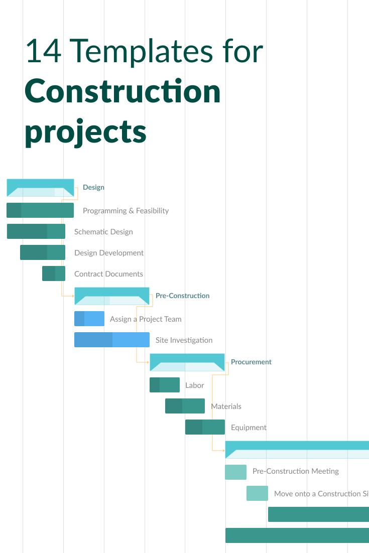 Best Gantt Chart Templates For Construction Project Management Templates Gantt Chart Templates Project Management Tools