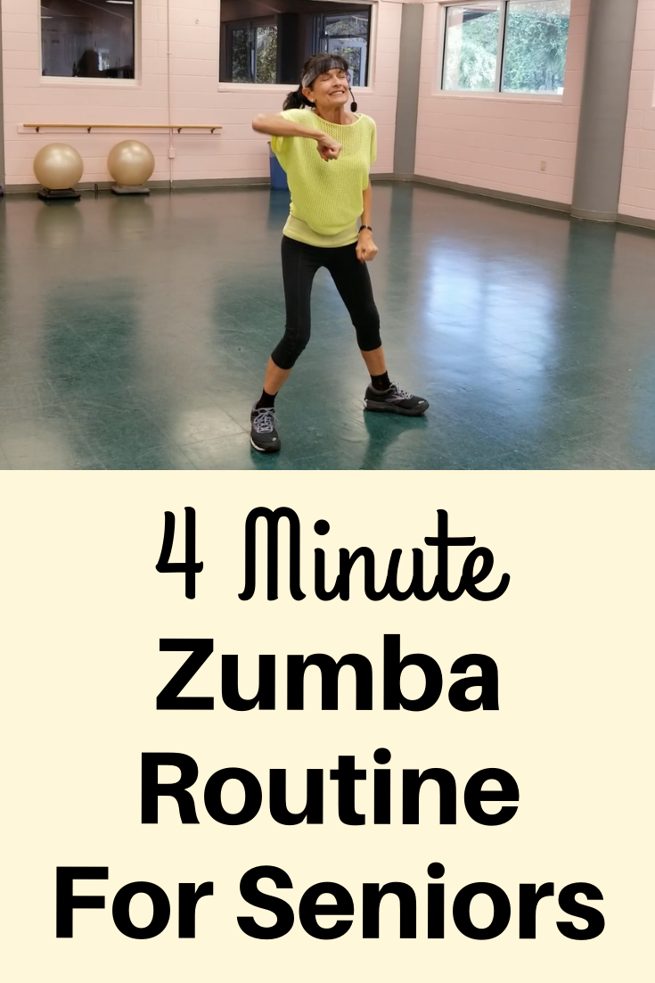 4 Minute Zumba For Seniors - Fitness With Cindy