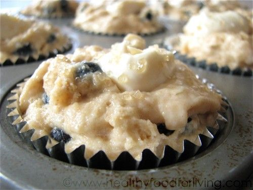 healthy cream cheese blueberry muffins