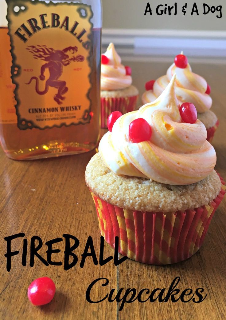 fireball cupcakes