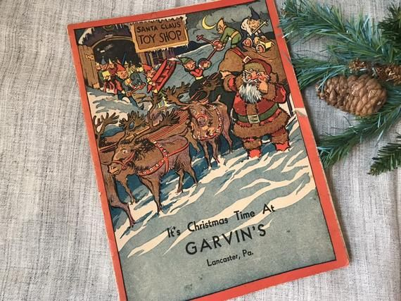 Vintage Christmas Story Booklet Advertising Department Store