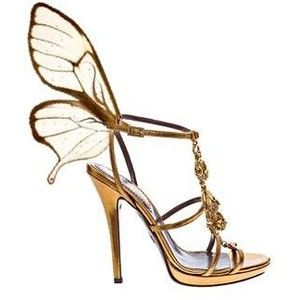 f4f370c06e0 These Christian Louboutin remind me of jenni Rivera rip .....ButterFly  golden pump