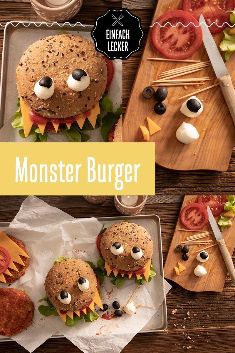 Monster Burger halloweenrezepte Monströse Burger versetzen ihre ...