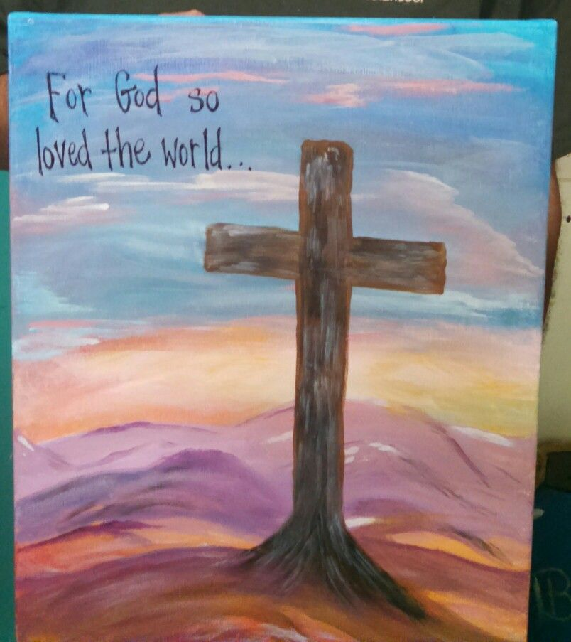 Pin By Karen Tate On Crosses Acrylic Painting Lessons Church Art Painting Lessons
